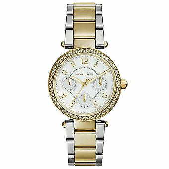 Michael Kors MK6055 White Glitz Dial Steel Ladies Watch