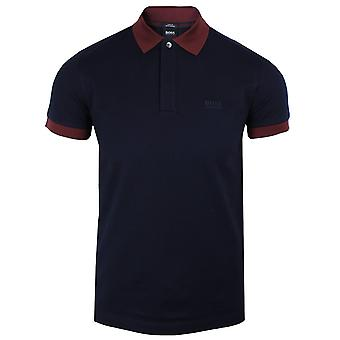 Hugo boss men's navy phillipson 65 polo shirt