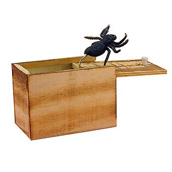 April Fool's Day Gift Wooden Prank Trick Practical Joke - Spider In Box