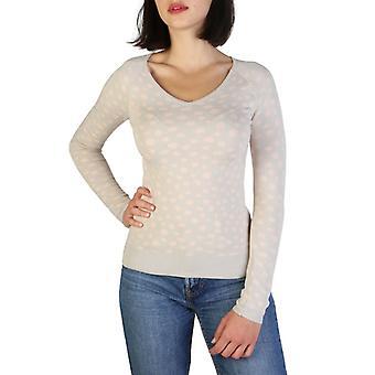 女性エラスタネロングセーターVネックTシャツトップaj51799