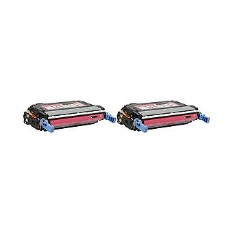 RudyTwos 2x Replacement for HP 643A Toner Unit Magenta Compatible with Colour LaserJet 4700, 4700dn, 4700dtn, 4700n, 4700ph+