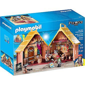 Playmobil 9112 Pirati prendere lungo Fortezza Pub Carry Case