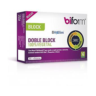 Double Block 100% Vegetable 30 capsules