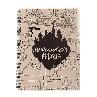 Harry Potter Notizbuch DINA 5 Marauder's Map Din A 5 mit Spiralbindung und Pappcover 200 Seiten, liniert.