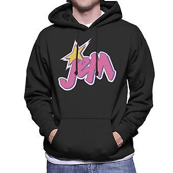 Jem And The Holograms Light Pink Logo Men's Hooded Sweatshirt