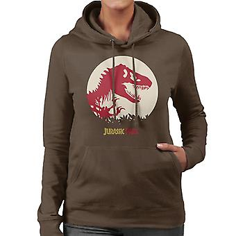 Jurassic Park rood silhouet vrouwen ' s Hooded Sweatshirt