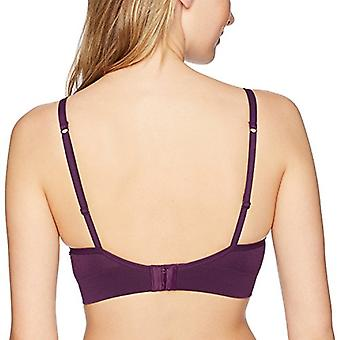 Brand - Mae Women's Criss Cross Cropped Push-Up Bralette (for A-C cups...