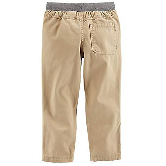 Simple Joys by Carter's Baby Boys' Toddler 2-Pack Pull on Pant, Khaki, Navy, 3T
