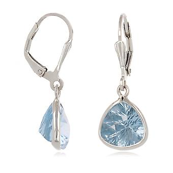 ADEN Faceted Topaz earrings setting 925 sterling silver (id 4539)