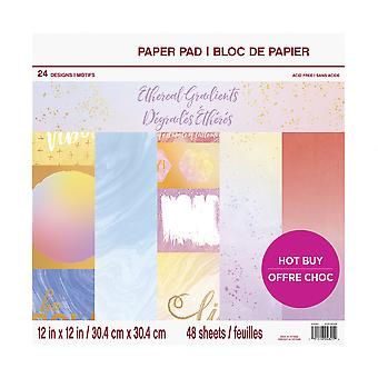 Craft Smith Ethereal Gradients 12x12 Inch Paper Pad