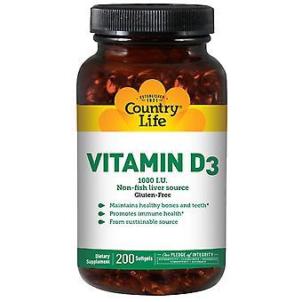 Vita di campagna, vitamina D3, 1000 IU, 200 Softgels
