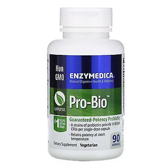 Enzymedica, Pro-Bio, Guaranteed Potency Probiotic, 90 Capsules