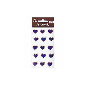 زخرفة حرفة قلوب الأزرق والوردي من أرتوز