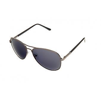 Okulary przeciwsłoneczne Unisex pilotz czarny/brązowy (PZ20-007)