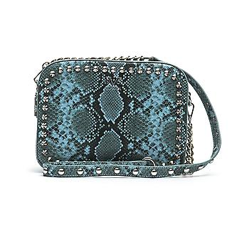 Snake print shoulder bag - p06_blue 19v69 italia