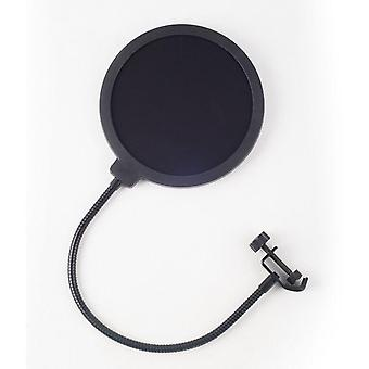 Yeti Dedicated Microphone Pop Filter- Large Double Layer U Type Recording With Anti Spray Network (black)