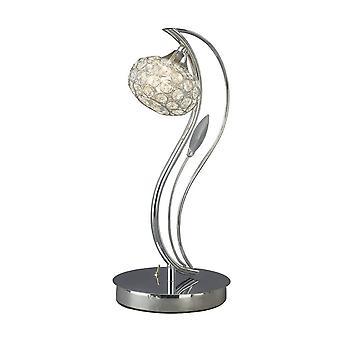 Tafellamp 1 Licht gepolijst chroom, kristal