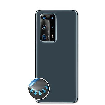 atFoliX 3x Anti Shock Screen Protector compatible with Huawei P40 Pro Backcover matt&flexible
