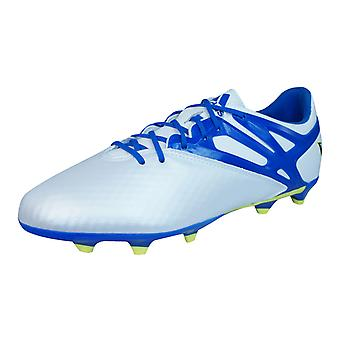 Adidas Messi 15,1 FG / scarpe calcio Boys AG / tacchette - bianco