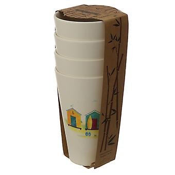 Bamboo Composite Beach Hut Cup Set of 4 X 1 Pack