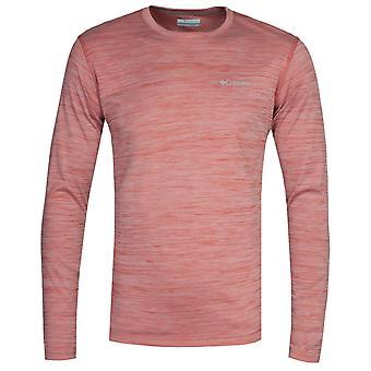Columbia Zero Rules Red Heater Long Sleeve T-Shirt