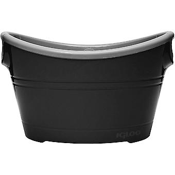 IGLOO 20 qt. Party Bucket Cooler - Black/Silver