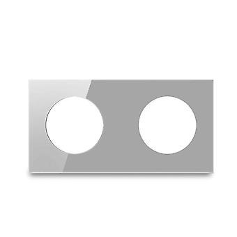 مزدوجة خفف الزجاج لوحة فقط 172 * 86mm دائرة مستديرة