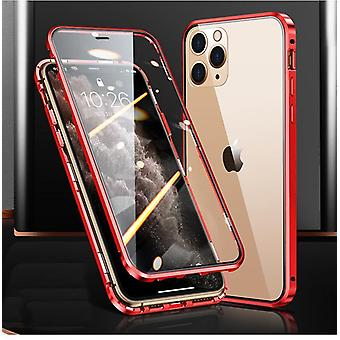 Magnetic case double-sided tempered glass for Iphone X/Xs