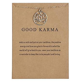 Good karma necklace 18K gold plated gift