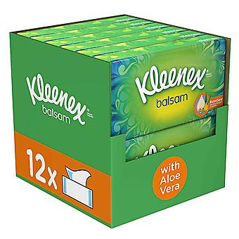 Kleenex Facial Tissues Balsam with Aloevera - 12 Boxes