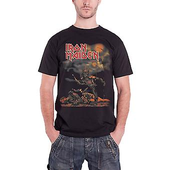 Iron Maiden T Shirt Sanctuary Killers Eddie Band Logo Official Mens New Black