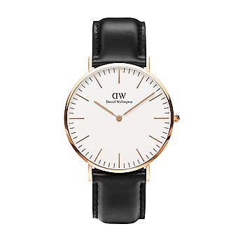 Daniel Wellington DW00100007 Sheffield Black Strap Wristwatch