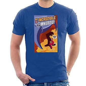 Pixar The Incredibles Mr Incredible Omnidroid Men''s T-Shirt