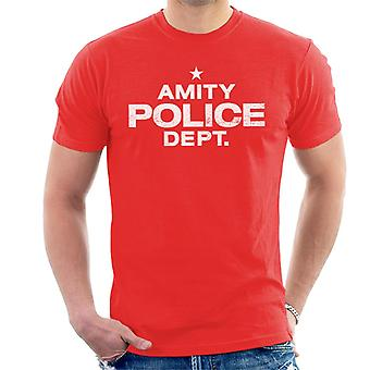 Jaws Amity Police Dept Men's T-Shirt