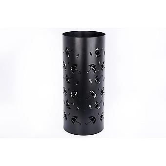 Brolly Design Black Metal Paraguas Pie Stick Stand 48x21cm