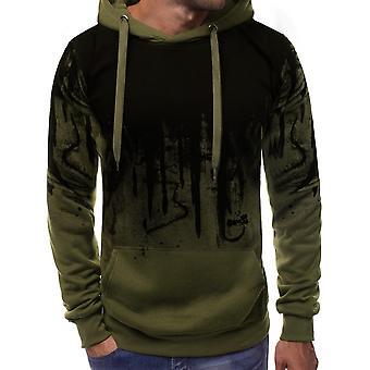 Herre tøj hættetrøje sweatshirt, gym jakke hættetrøje lynlås op Pullover Jumper