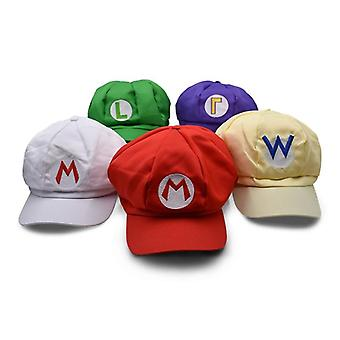 Anime Super Mario Hat Cap, Cosplay Baseball Costume Cartoon Hats Plush