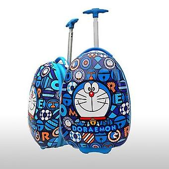 Lovely Cartoon Trolley Case Child Trip Doraemon Egg Shaped Luggage Cat
