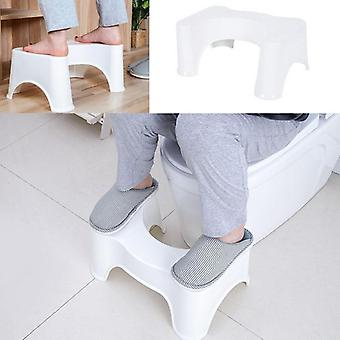 U-shaped Squatting Toilet Stool, Non-slip Pad, Bathroom Helper Assistant Seat