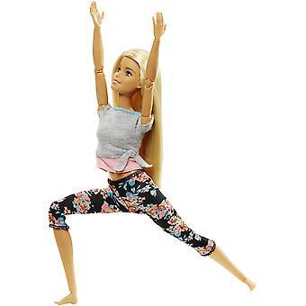 Barbie készült mozgatni baba - eredeti szőke haj,