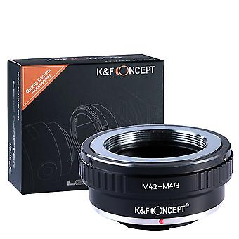M42 to micro 4/3 adapter,k&f concept lens mount adapter for m42 screw mount lens to micro 4/3 four t