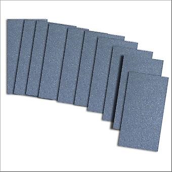 10 Kings Blue Pearlescent Card Inserts For Mini Pocket (Small)