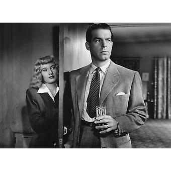 Double Indemnity From Left Barbara Stanwyck Fred Macmurray 1944 Photo Print