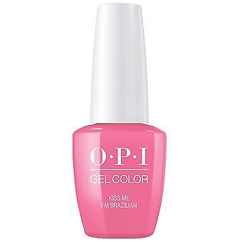 OPI GelColor gel farve-Soak off gel polsk-kys mig im brasiliansk 15ml (GC A68)
