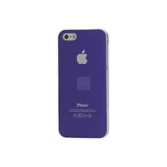 Iphone 5 Hard Plastic Cover Bagetui med Apple-logo - Lilla