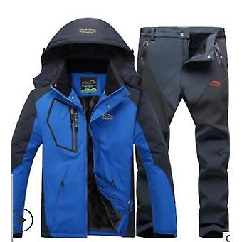 Winter ski suit for men fleece warm waterproof set