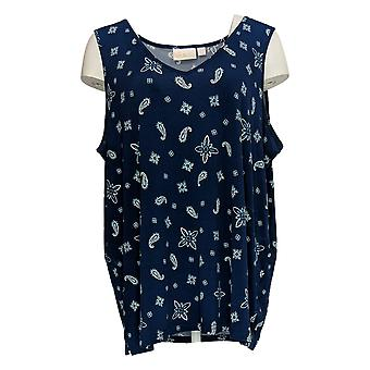 Belle By Kim Gravel Women's Top Blouse And Tank Set Blue A373653