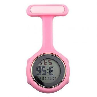 Women's Digital Display Dial Fob Nurse Brooch Pin Hang Electric Pocket Watch