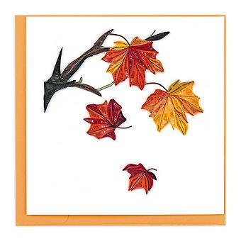Bl926 Quilling Card – Autumn Leaves