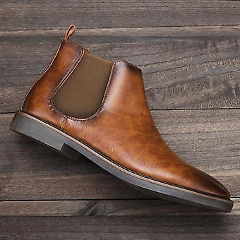 Chelsea Top-quality Leather Shoes Handmade Rubber Boots